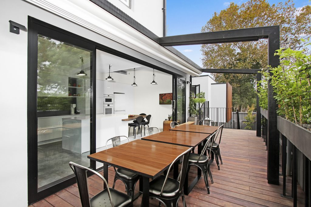Modern Kitchen Deck Extension add to Victorian Terrace Inner West