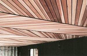 Timber Wood Clad Suspended Ceilings in Home