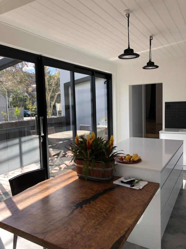 Modern kitchen with deck ideas. Stylish design adding value to your home and living space.