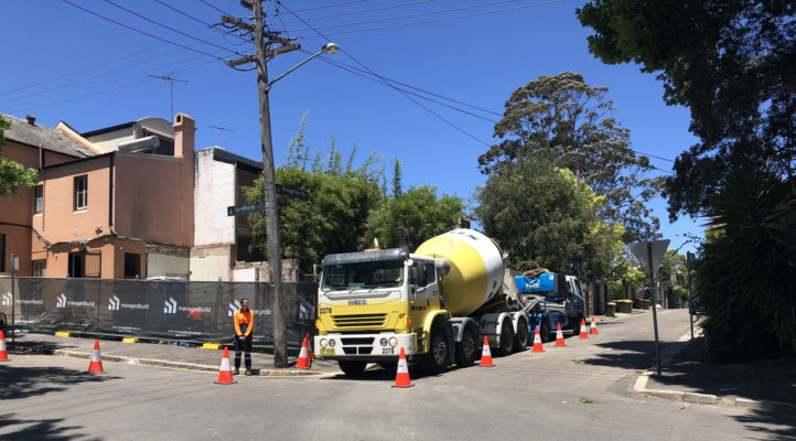 Concrete Truck Mixer Onsite, Preliminary pre-construction services agreement and contract.